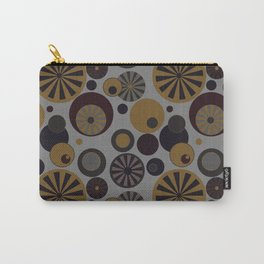 Circle Frenzy - Grey Carry-All Pouch