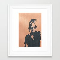 sunglasses Framed Art Prints featuring sunglasses by mary grace