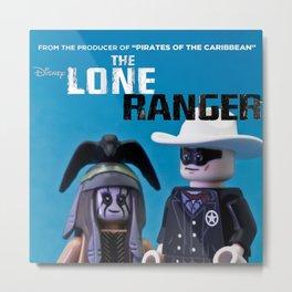 Lone Ranger Poster Metal Print