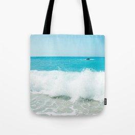 Minimal turquoise ionian wave - Porto Katsiki beach Tote Bag