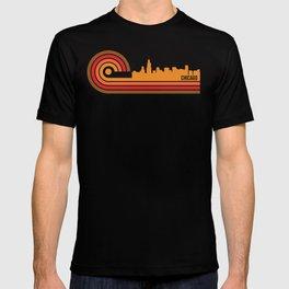 Retro Style Chicago Illinois Skyline T-shirt