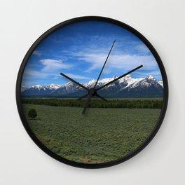 Beautiful Wyoming Landscape Wall Clock