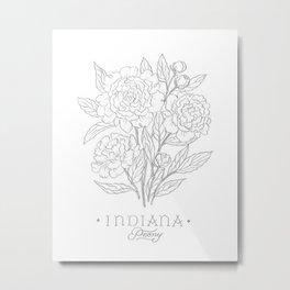 Indiana Sketch Metal Print
