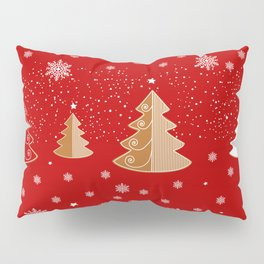 Red & white  gingerbread  #Christmas design Pillow Sham