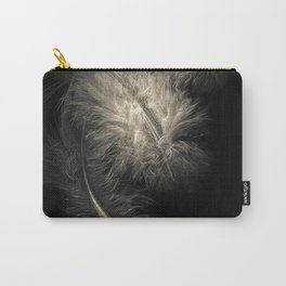 Three feathers in black and white Carry-All Pouch
