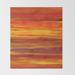 Sunset stratum Throw Blanket