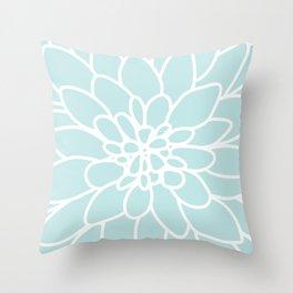 Ice Dahlia 2 Throw Pillow