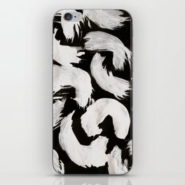 Cocoon, Abstract, White & Black iPhone Skin