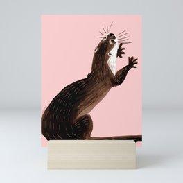 Asian small-clawed otter Mini Art Print