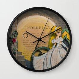 Cinderella Book Art Illustration Wall Clock