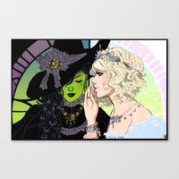 wicked Canvas Prints featuring Wicked by Natalie Nardozza