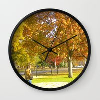 photographer Wall Clocks featuring Photographer by VicSal