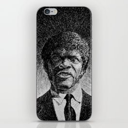 Jules Winnfield Portrait  Samuel L Jackson Pulp Fiction iPhone Skin