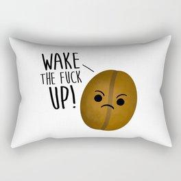 Wake The Fuck Up - Coffee Bean Rectangular Pillow