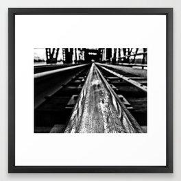 Black Diamond Framed Art Print