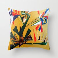 oakland Throw Pillows featuring Oakland Wall Flower by Oakland.Style
