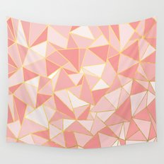 Ab Out Blush Gold Wall Tapestry