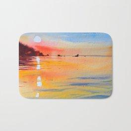 Lake Malawi sunset Bath Mat