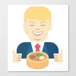 Trumpation - Best Taco Bowl Canvas Print