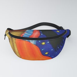 'Girl on the Moon with the Stars in her Hand' in the style of R. Morales (Artist Unknown) Fanny Pack