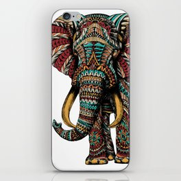 Ornate Elephant (Color Version) iPhone Skin