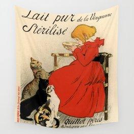 Theophile Alexandre Steinlen - Lait Pur Sterilise (Pure Sterilised Milk) Wall Tapestry