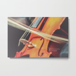 Long Exposure Cello Metal Print