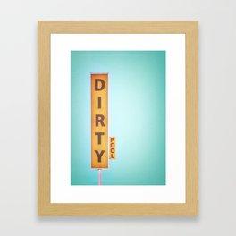 """Poster """"Dirty Pool"""" Framed Art Print"""
