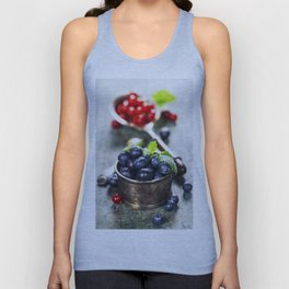 blueberries and red currant berries Unisex Tank Top