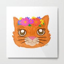 Frida Cat Metal Print