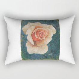 White Rose - in watercolor Rectangular Pillow