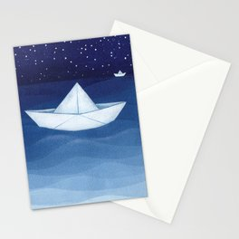 Paper boats illustration Stationery Cards