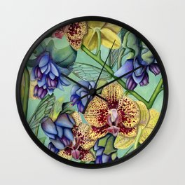 Lost Wing In Bloom Wall Clock