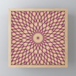 Purple Fishnet Mandala Pattern Framed Mini Art Print
