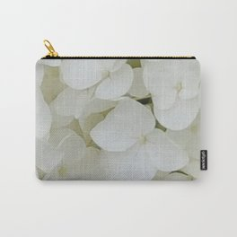 Hydrangea Flowers White Blossom Floral Photograph Carry-All Pouch