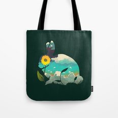 Rabbit Sky - (Forest Green) Tote Bag