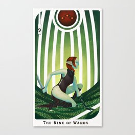 The Nine of Wands Canvas Print
