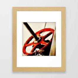 Red Plumbing Wheel Photography Framed Art Print