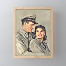 John Wayne and Donna Reed Framed Mini Art Print