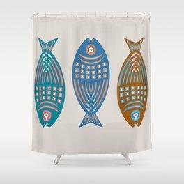 3 Fish | Multi Shower Curtain