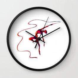 Rhythmic Gymnastics With Ribbon Wall Clock