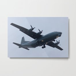 Military heavy cargo turboprop An-12. Metal Print