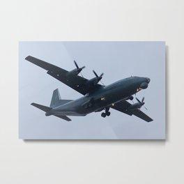 Military heavy cargo turboprop An-12. Metal Print