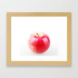 Red apple isolated on white background Framed Art Print