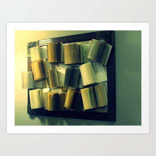 hanging books Art Print