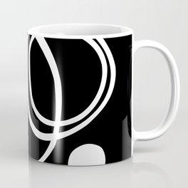 Black and White Circles Abstract Modern Coffee Mug