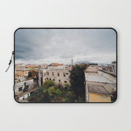 View of Naples with clouds Laptop Sleeve