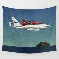 returns Wall Tapestries featuring Thunderbird Carrier by WyattDesign