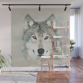 The Gray Wolf - Sketch Wall Mural