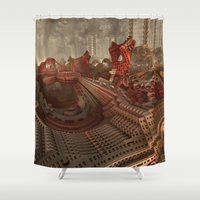 inception Shower Curtains featuring The Junque Room by Lyle Hatch